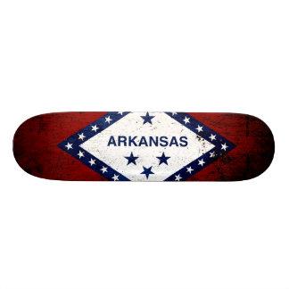 Black Grunge Arkansas State Flag Skateboard Deck