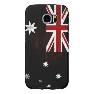 Black Grunge Australia Flag 2 Samsung Galaxy S6 Case
