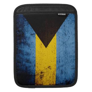 Black Grunge Bahamas Flag iPad Sleeve