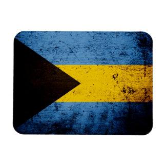Black Grunge Bahamas Flag Magnet
