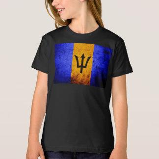 Black Grunge Barbados Flag T-Shirt
