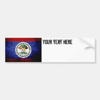 Black Grunge Belize Flag Car Bumper Sticker