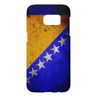 Black Grunge Bosnia and Herzegovina Flag Samsung Galaxy S7 Case