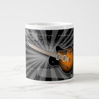 Black Grunge Burst Guitar Speciality Mug specialtymug