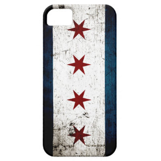 Black Grunge Chicago Flag iPhone 5 Cover