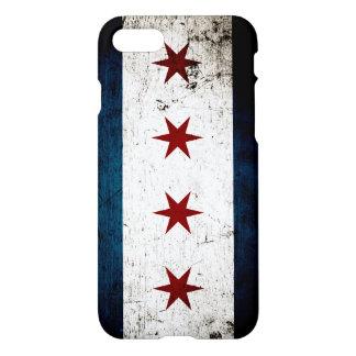 Black Grunge Chicago Flag iPhone 8/7 Case