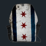 """Black Grunge Chicago Flag Messenger Bag<br><div class=""""desc"""">Black Grunge Chicago Flag. Feel free to modify the design according to your own preferences. You may change the design location, orientation, background colors and size. Also, you may add your own text, or slogan set its font, location and size, all in order to create the ultimate personal gift for...</div>"""