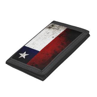 Black Grunge Chile Flag Tri-fold Wallet