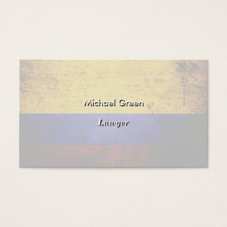 Black Grunge Colombia Flag Business Card