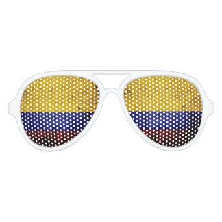 Black Grunge Colombia Flag Sunglasses