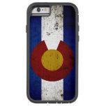 Black Grunge Colorado State Flag Tough Xtreme iPhone 6 Case