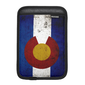 Black Grunge Colorado State Flag Sleeve For iPad Mini
