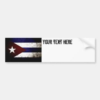 Black Grunge Cuba Flag Bumper Sticker