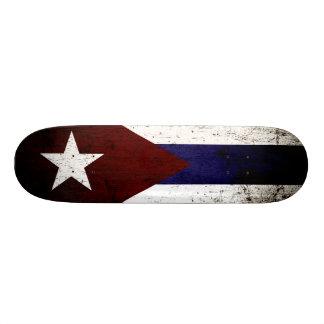 Black Grunge Cuba Flag Skateboard Deck