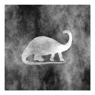 Black Grunge Dinosaur (Brontosaurus) Card