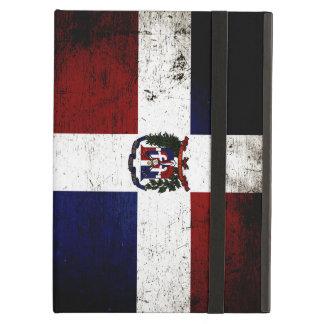 Black Grunge Dominican Republic Flag iPad Air Cover
