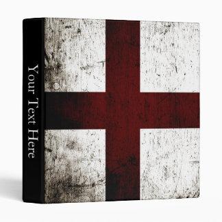 Black Grunge England Flag 2 Binder