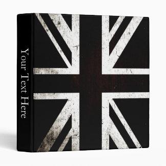 Black Grunge England Flag 4 Binder