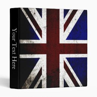 Black Grunge England Flag Binder