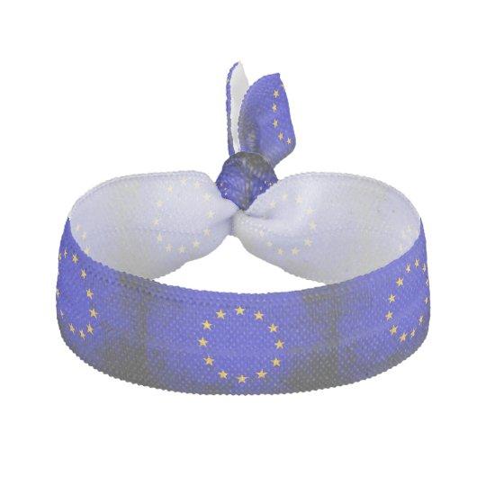 Black Grunge European Union Flag Hair Tie  9a8329e9ab8