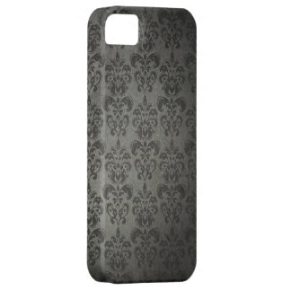 Black Grunge Floral Damask Gothic iPhone 5s Case iPhone 5 Cover