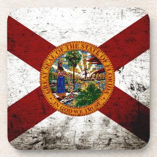 Black Grunge Florida State Flag Coaster