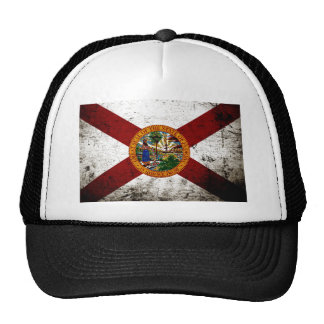 Black Grunge Florida State Flag Trucker Hat