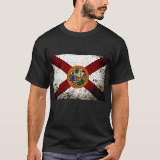 Black Grunge Florida State Flag T-Shirt