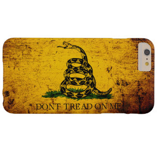 Black Grunge Gadsden Flag Barely There iPhone 6 Plus Case