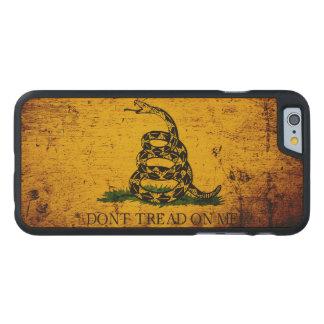 Black Grunge Gadsden Flag Carved® Maple iPhone 6 Case