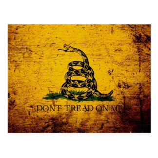 Black Grunge Gadsden Flag Postcards