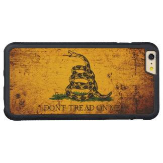 Black Grunge Gadsden Flag Carved® Maple iPhone 6 Plus Bumper Case