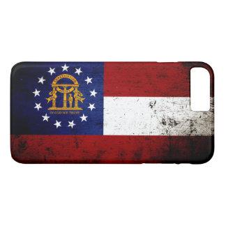 Black Grunge Georgia State Flag iPhone 7 Plus Case