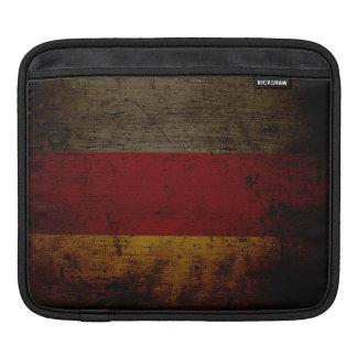 Black Grunge Germany Flag 2 iPad Sleeves