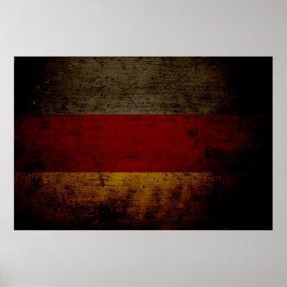 Black Grunge Germany Flag 2 Poster