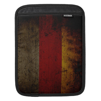 Black Grunge Germany Flag 2 Sleeve For iPads