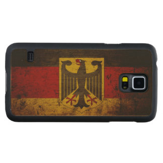Black Grunge Germany Flag Carved® Maple Galaxy S5 Slim Case