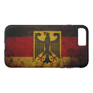 Black Grunge Germany Flag iPhone 8 Plus/7 Plus Case