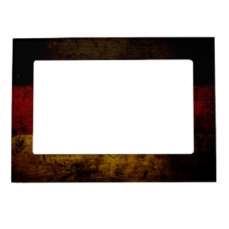 Black Grunge Germany Flag Magnetic Frame