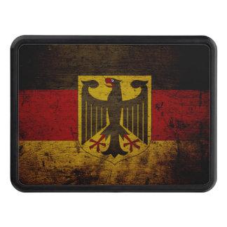 Black Grunge Germany Flag Trailer Hitch Cover