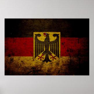 Black Grunge Germany Flag Poster