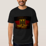 Black Grunge Germany Flag T-shirt