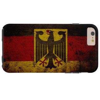 Black Grunge Germany Flag Tough iPhone 6 Plus Case