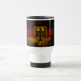 Black Grunge Germany Flag Travel Mug
