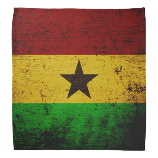 Black Grunge Ghana Flag Bandana