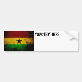 Black Grunge Ghana Flag Bumper Sticker