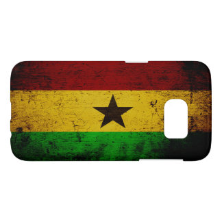 Black Grunge Ghana Flag Samsung Galaxy S7 Case