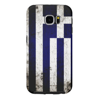Black Grunge Greece Flag Samsung Galaxy S6 Case