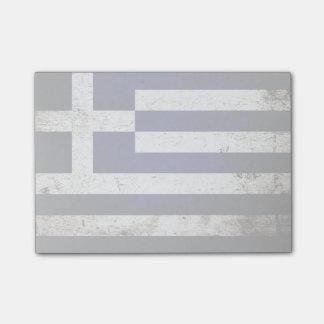 Black Grunge Greece Flag Post-it® Notes