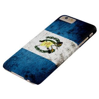 Black Grunge Guatemala Flag Barely There iPhone 6 Plus Case